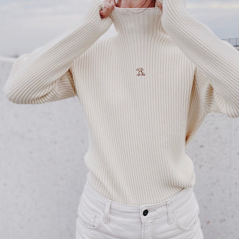 Ugly Bunny // Soft skin turtleneck sweater in four colors