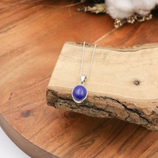 925 sterling silver | Simple Series Natural Stone Necklace Lapis Stone