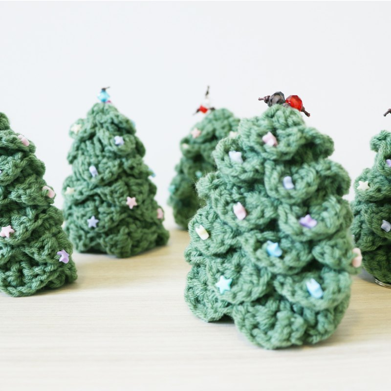 Knitted key cover - Christmas Tree