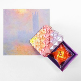 Origami Sunset Jewel Box with 14K Rose Gold Necklace