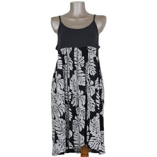 Tropical dress ♪ Monstera camisole dress <black>