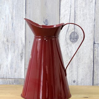 SUSS-UK Rayware Vintage Industrial Wind 2L Classic Red Cold Kettle/Vase