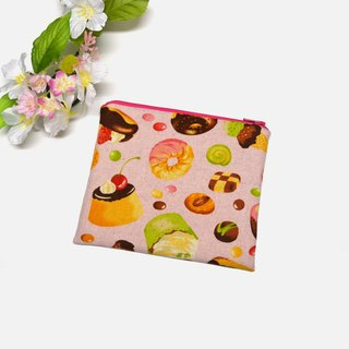 My dessert Small Zippered Bag/Small Pouch/storage pouch earphone holder