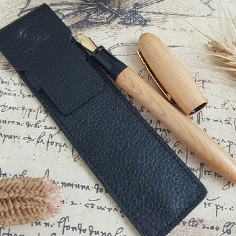 [TENNY handmade wooden fountain pen] Curved cypress/Taiwan cypress Hinoki
