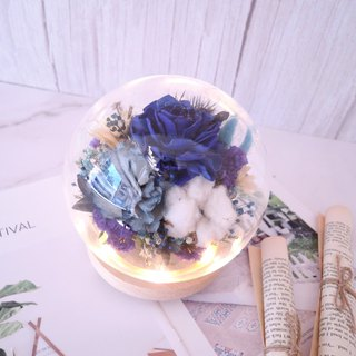[miracle bloom] dry flower crystal ball night light / glass 盅 / gift / anniversary / Valentine's Day / confession