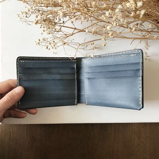 Leather short clip │6 card layer │Bi-fold wallet