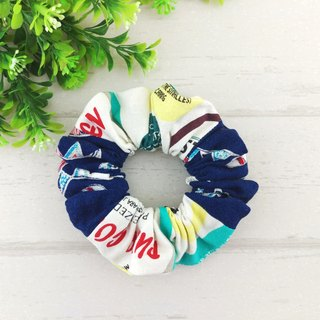 Pennants. Handmade donut tress / colon circle (navy American style American wind label)