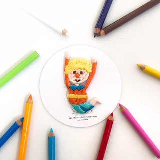 Littdlework Mini Embroidered Badge | Neckline Chapter | Aerial Man