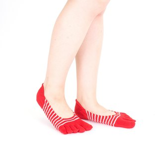 stripe-pump ultra short 5toe socks