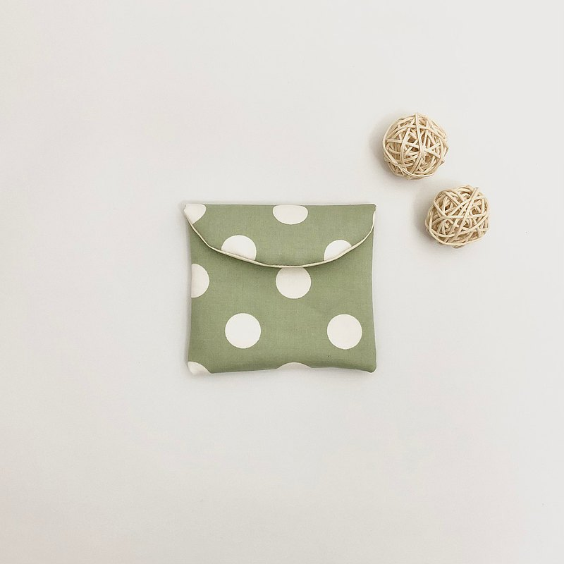 Customized cloth selection-matcha white jade sanitary napkin bag birthday gift