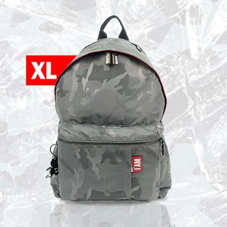 Free shipping I AM-NANA XL (Extra Large) Rear Backpack - Camouflage Grey