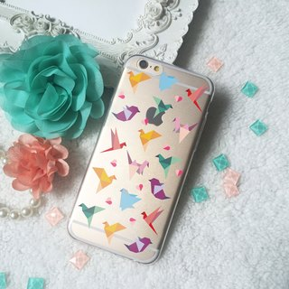 Paper Bird Heart TPU Phone Case for iphone X 8 8+7+ 6 6S LG V30 Sony Xperia X Z