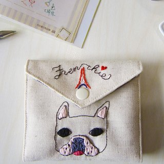 Law Love Paris - Embroidered Personal & Face Paper Carrying Case