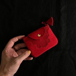 temple coin purse < red >