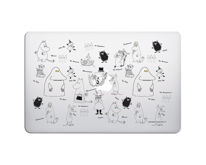Moomin 噜噜 米 Genuine License- [Drawing Moomin] (Transparent) -MacbookPro / Air13 inch