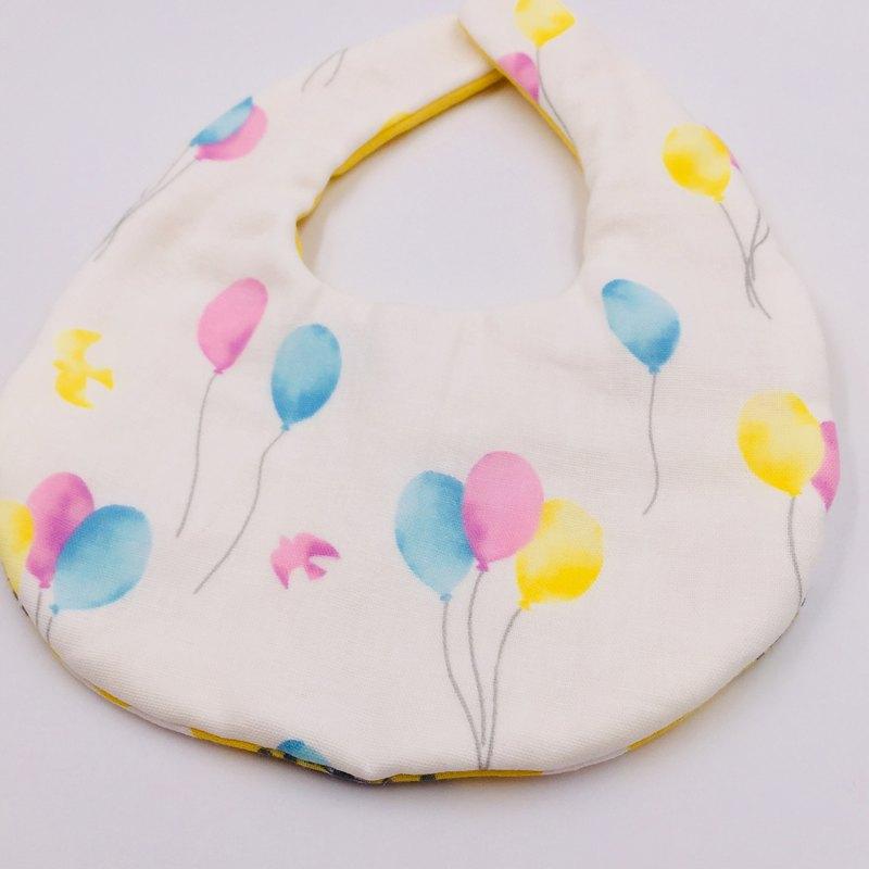 彩色氣球圍兜 二重紗 口水巾 設計款 彌月禮
