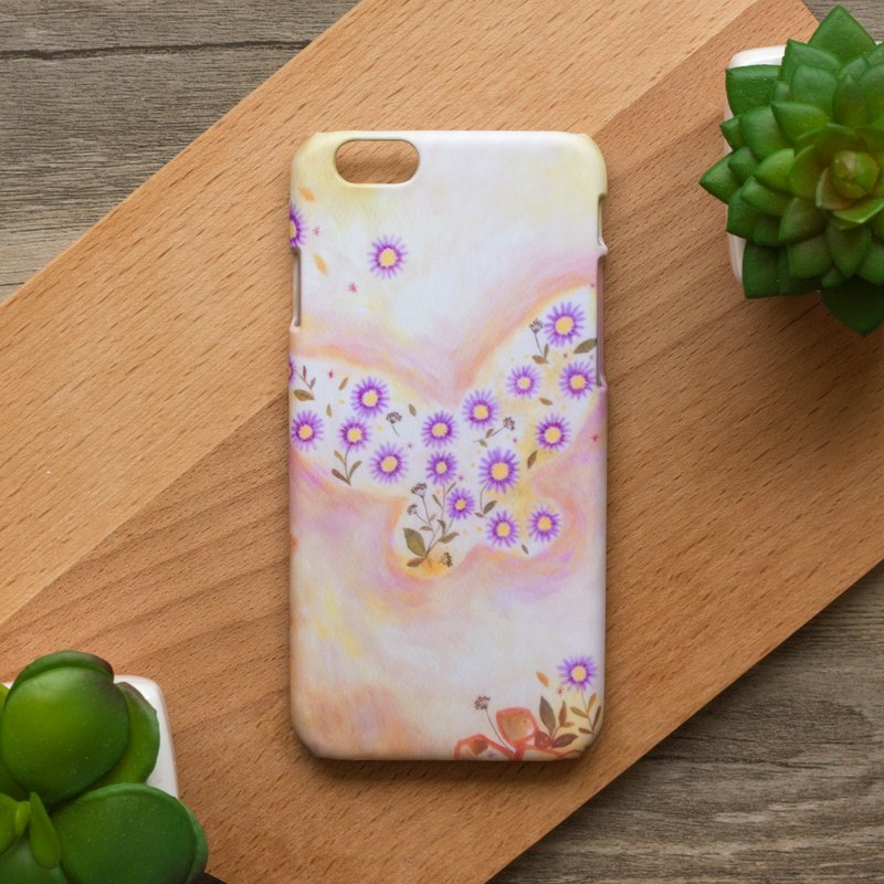 Butterfly and Flowers. Matte Case( iPhone, HTC, Samsung, Sony, LG, OPPO)