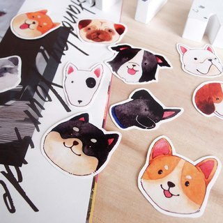 Dog head sticker pack