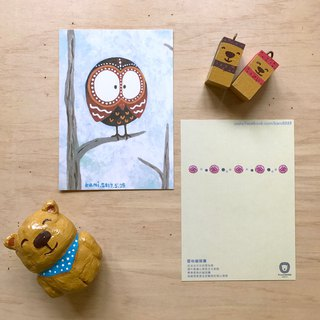 Postcard ∣ snow owl