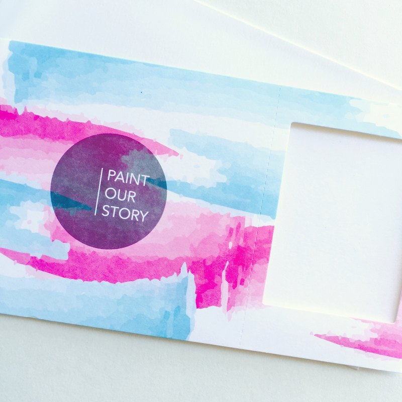 "Pin cards - paint our story frame card ""two or more Free Yun Oh! (Including) """