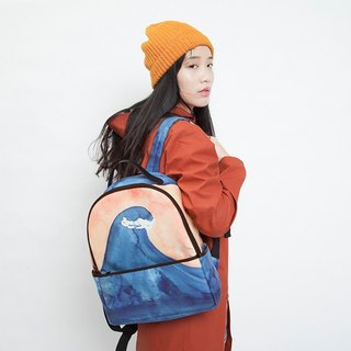 YIZISTORE watercolor printed backpack casual backpack student bag backpack
