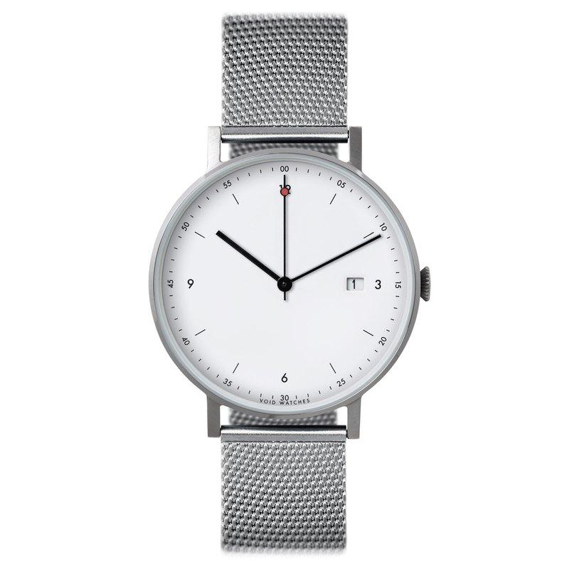 現代經典日期金屬手錶 - PKG01-SI/MR/WH