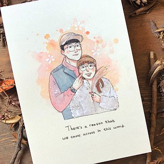Customized portrait portrait illustrator pet couples order to 01/28 after shipment