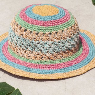 Valentine's Day Valentine's Day gift limited to a South American travel wind weaving cotton hat / knit hat / fisherman hat / sun hat / straw hat / hand-knitted cotton hat / crocheted cotton hat / painter cap / design hat - fruit macarons mousse Cak