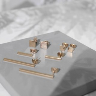 18K Rose Gold Minimal Earrings Valentine's Day Gift