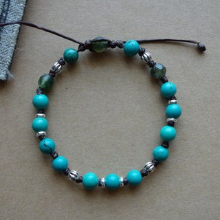 "~ M ~ + Bear ""exclusive December You"" Turquoise Bracelet Sterling Silver Bracelet Sterling Silver retractable wax line"