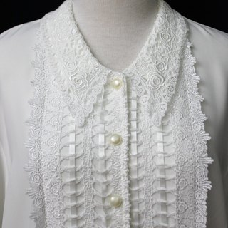 [RE0407T1958] Department of Forestry complex classical Ya Leisi collar white shirt vintage