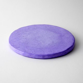 [Cold porcelain coasters] purple / handmade / natural materials