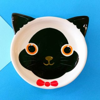 Birthday gifts preferred Siamese cat underglaze painted pinch modeling plate
