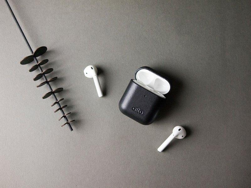 Alto AirPods 皮革耳機保護套 - 渡鴉黑