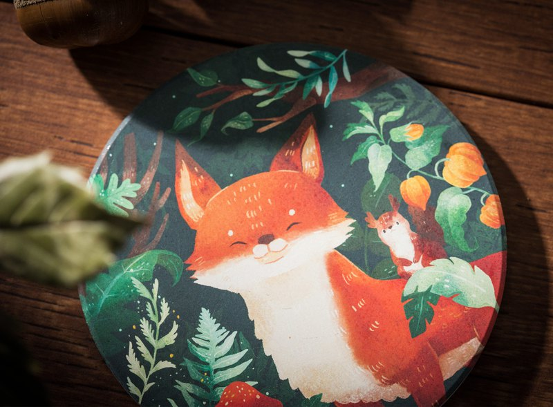 Ceramic Suction Coaster-Lush forest