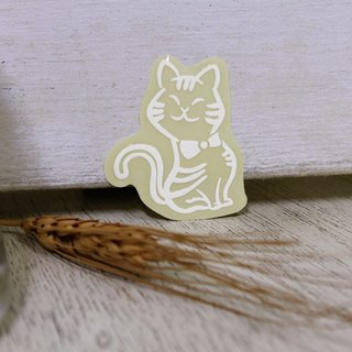 NINKYPUP reflective stickers cat 3.2 * 4cm
