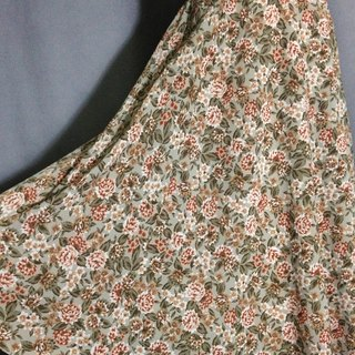 Ping pong ancient [ancient skirt / elegant flowers big skirt pockets of ancient skirt] brought back abroad VINTAGE