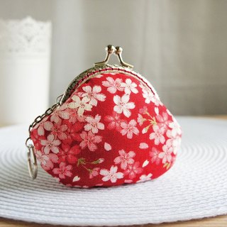 Lovely Cherry Gold Coin Purse, Red