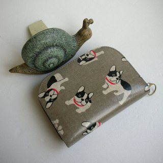 Fighting Meng dog waterproof cloth - short clip / wallet / purse / gift