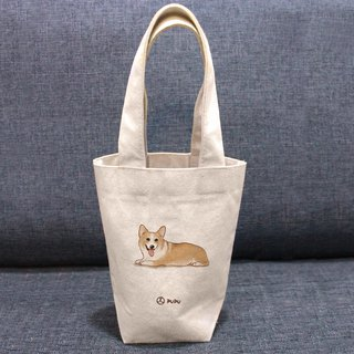 Keji-Kazzi---Taiwan-made cotton linen-Wen Chai Shijiao-Environmental-Beverage bag-Flies Planet