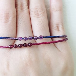 Garnet hand made wax line bracelet guide direction diamond knot very fine bracelet shipping temperament