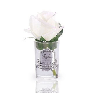 CoteNoire Fragrance Flower - Small Pink White Rose Fragrance Flower
