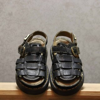 Tsubasa.Y Antique House Black 008 Martin Sandals, Dr.Martens England