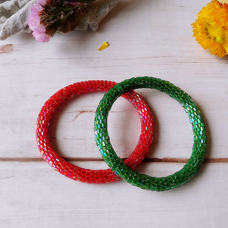 Minimalist Solid Color Series Handmade Beaded Braided Bracelet Bracelet Bracelet Jewelry
