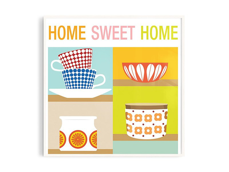 Poster • tw 丨Sweet Home /Illustration/Paintings/Posters/Aluminum frame/A4/Size can be customized