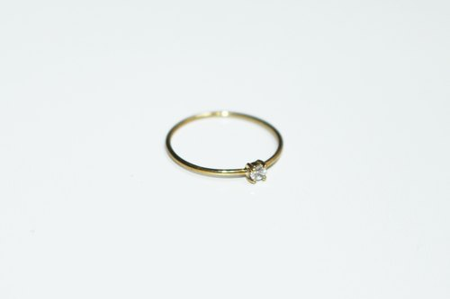 Timeless Series - Classical Diamond Ring in 14k Yellow Gold