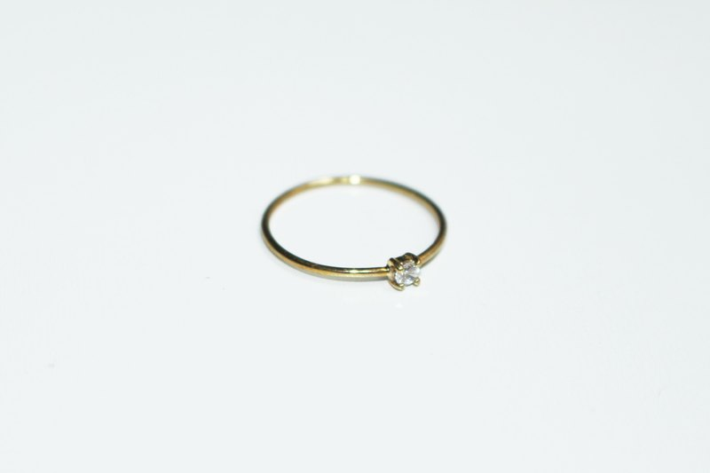 Eternal Series - 14k gold classical diamond ring