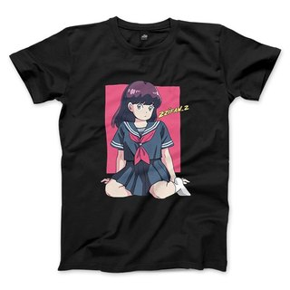 Sailor suit girl - black - neutral T-shirt