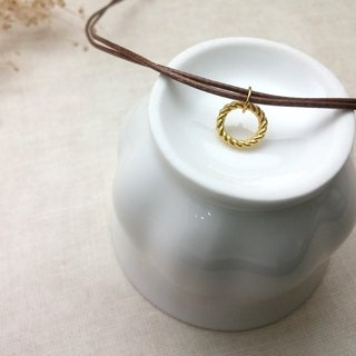 Wax line necklace twisted ring plain simple wax rope thin line circle round