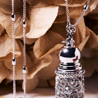 Neve Jewelry - Melody Mini Perfume Bottle of Necklace/Keychains (White)